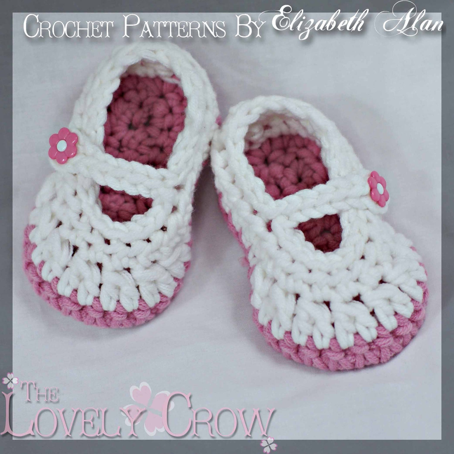 Free Crochet Patterns For Baby Sport Yarn : Mary Janes Crochet Pattern for BULKY yarn Baby Button by ...