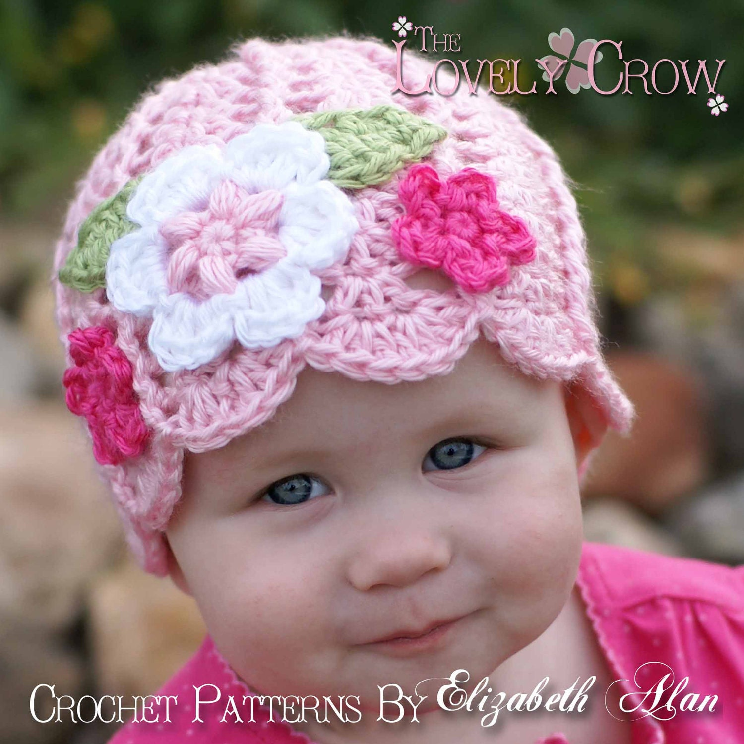Crochet Beanie Hat Pattern For Babies : Baby Girl Beanie Crochet Pattern Baby Beanie for Garden