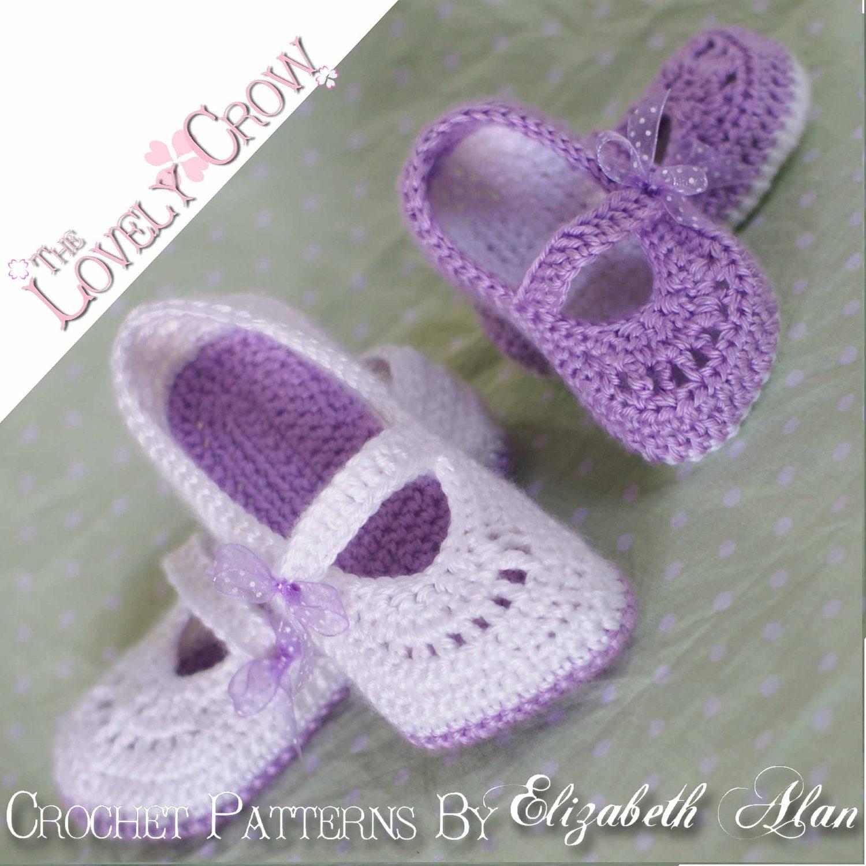 Free Crochet Pattern For Toddler Girl : Crochet Pattern Toddler Girl Shoes for TODDLER RIBBON