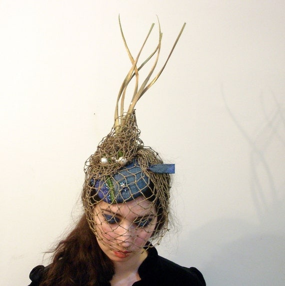Sea Detritus Fascinator Avant Garde Mermaid Headpiece