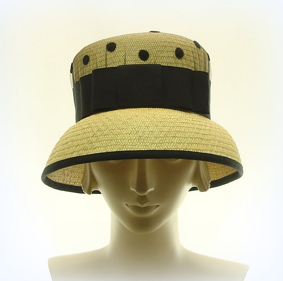Vintage Style CLOCH HAT for Women - Natural  Panama Straw Hat