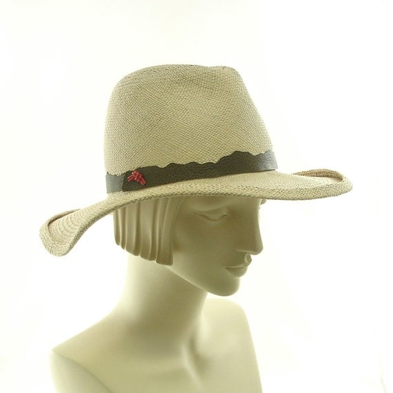 WIDE BRIM HAT for Women / Panama Straw Hat / Handmade by Marcia Lacher Millinery