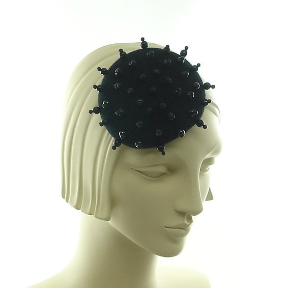 Genuine Onyx Cocktail Hat for Women