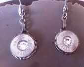 shotgun shell earrings  swarovski crystals  cowgirl way  original rodeo queen  made in USA, Texas