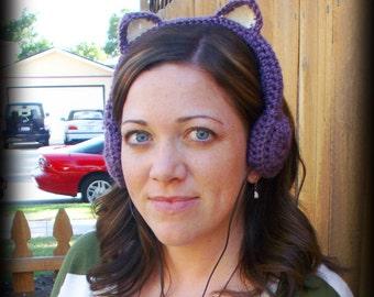 Lavendar Menace Kitty Cat Headphones