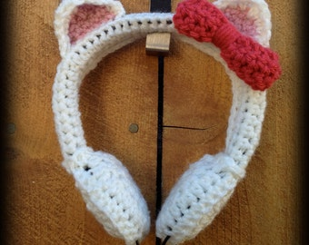 Cat's Meow Crochet Headphones
