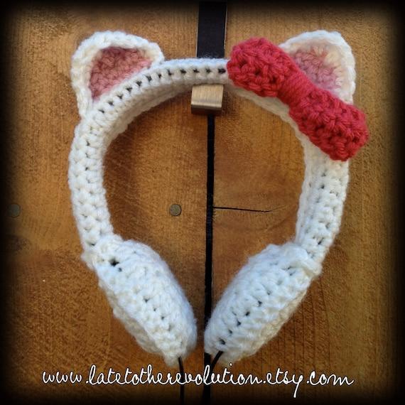 Cat's Meow Crochet Headphones