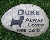 Personnalized Pet Memorial Stone Jack Russell Terrier & Other Breeds 9 - 10 Inch Memorial Cemetery Burial Tombstone Grave Marker