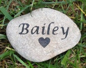 PERSONALIZED Pet Headstone Dog Cat Hamster Guinea Pig Gerbil 4-5 Inch Memorial Stone with Heart