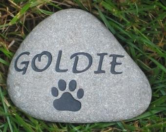Personalized Pet Stone Memorial Stone Marker 3-4 Inch Burial Memorial Grave Marker Pet Stone