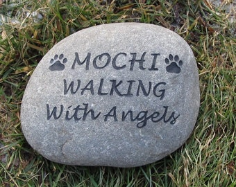 Pet Memorial, Pet Memorial Stone, Pet Stone Memorial,  Dog Memorial, Cat Memorial, Gravestone, Garden Memorial, Burial Stone 9-10 Inch