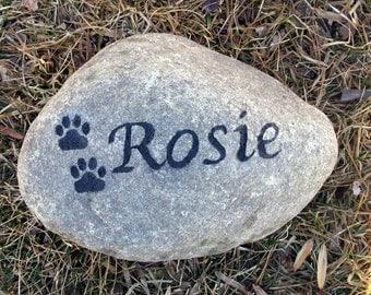 Personalized Pet Memorial Stone Garden Headstone Pet Grave Marker 5-6 Inches