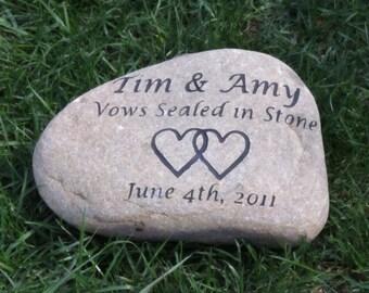 Wedding Gift Oathing Stone Personalized 10-11 Inch Oath Stone Wedding Stone