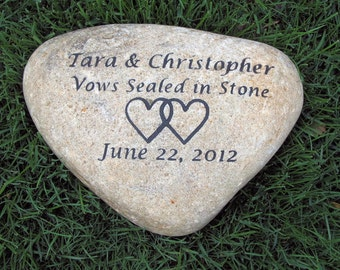 Personalized Oathing Stone  Wedding Stone Engraved Wedding Gift 10-11 Inch Stone