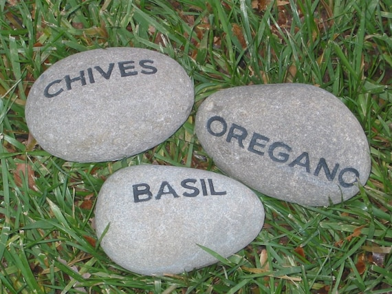 items similar to personalized engraved herb garden stone 2