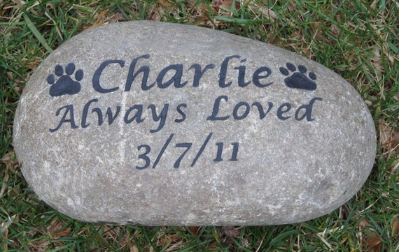 Personalized Pet Memorial Dog Cat Memorial Garden Gravestone