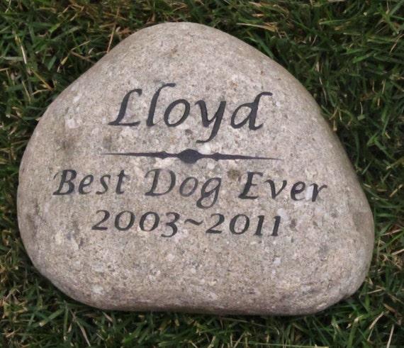 Items Similar To Personalized Pet Memorial Stone Grave Stone Headstone Marker Garden Memorial
