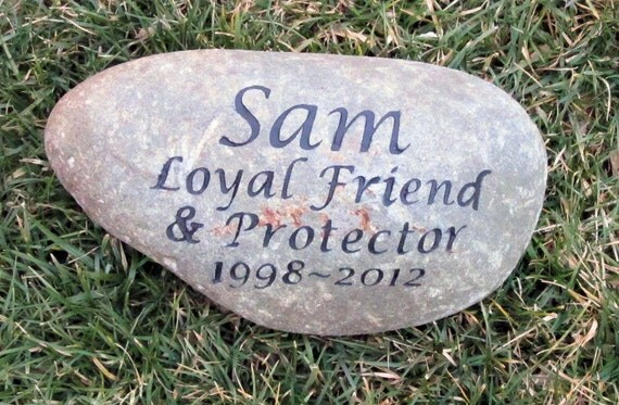 Personalized Memorial Stone For Dog Cat Memorial Stone Pet