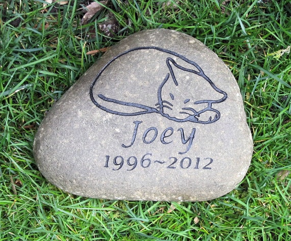Cat Pet Memorial Garden Stone Cat Pet Stone Grave Marker