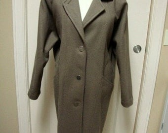 Men's Vintage Jofeld Wool Coat with Leather Trim