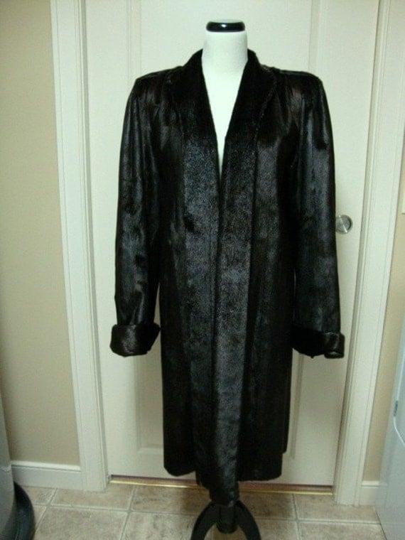Fabulous Vintage Genuine Hair Seal Fur Coat 1940s