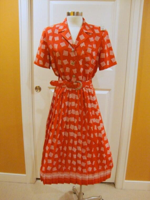 Sweet Vintage Leslie Fay Red Dress
