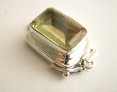 Sterling Silver Citrine Box Clasp