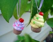 Set of 4 Cupcake Ornaments