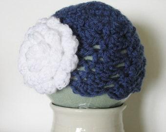 Crochet Baby girl hat, Newborn crochet hat, Crochet photo prop, Crochet Newborn Photo Prop, Crochet Newborn Girl Hat, Baby girl flower hat