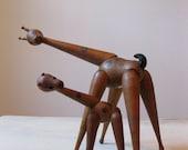 RESERVED //// vintage 60s Schooline wooden giraffe toys