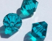 Swarovski Crystal Beads BICONE Swarovski Elements Blue Zircon - Available in 4mm, 5mm, 6mm and 8mm