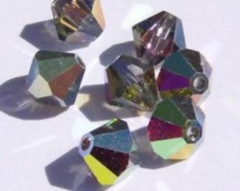 6mm Swarovski 6mm bicone crystal beads VITRAIL MEDIUM -- 12 beads