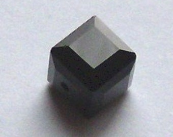 Swarovski elements crystal beads CUBE 5601 Crystal Beads  JET - Available in 4mm, 6mm and 8mm