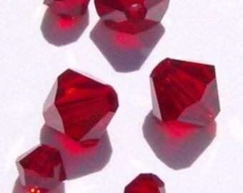 24 Swarovski 4/6mm Bicone 5328 Crystal Beads BIRTHSTONE MIXES  -- Choose your month