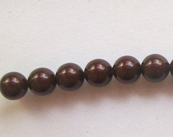 Sale -- Swarovski 4mm PEARL style  5810 crystal beads MAROON -- 25 pieces