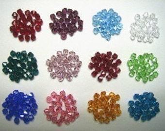 240 Swarovski Crystal Beads 6mm BICONE 5328 Crystal Beads BIRTHSTONE SET