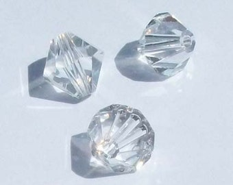 Swarovski Crystal Beads BICONE 5328 crystal beads CLEAR CRYSTAL - Available in 3mm, 4mm, 5mm, 6mm and 8mm