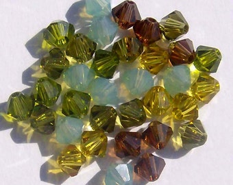 Swarovski elements crystal beads BICONE 5328 crystal beads  MIX 61 -- Available in 4mm