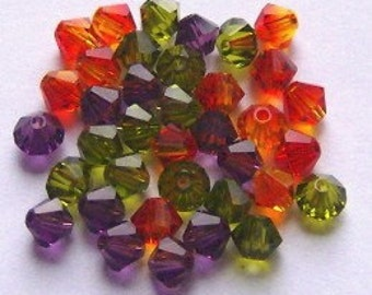 Swarovski crystal beads BICONE 5328 Crystal Beads  MIX  1   -- Available in 4mm and 6mm