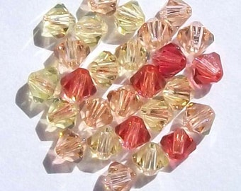 Swarovski crystal beads - 3 Different colors - Swarovski BICONE 5328 Crystal Beads  MIX  10 -- Available 4mm and 6mm