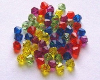 Swarovski elements crystal beads BICONE 5328 crystal beads  MIX 41 -- Available in 4mm and 6mm