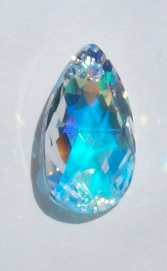 1 Swarovski Crystal Pendant 22mm crystal PEAR Focal Point Pendant -- CRYSTAL AB