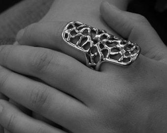 dristig silver ring