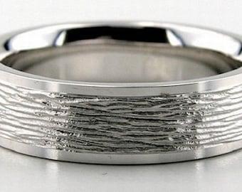 14K Gold Wedding Band Diamond Cut - 6MM - LC1206