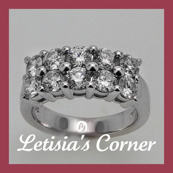 14K White Gold Diamond Wedding Anniversary or Engagement Ring - 3