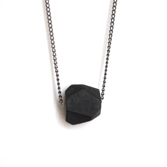 Faceted Matte Black Onyx Necklace