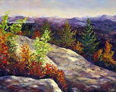 Appalachians, an original oil on stretched canvas painting 20 x 16 (51 x 41 cm) by Yvonne Wagner. Landshaft. Blue Ridge. Smokies. SALE.