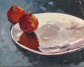 REFLECTIONS, contemporary original oil on canvas painting, 20 x 16 x 3/4 inches, by Yvonne V. Wagner