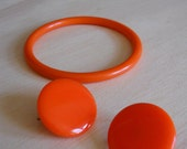 Earrings and Bangle Set BRIGHT Orange