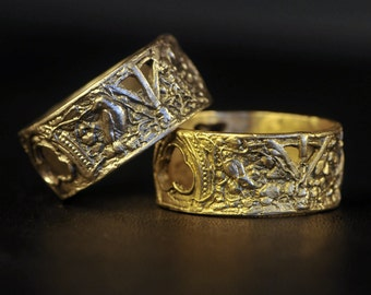 The Ruins Ring in solid white gold